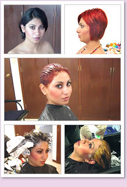Hair bleaching and coloring.